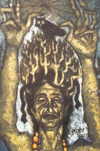 Sadequain, oil on canvas, c1970